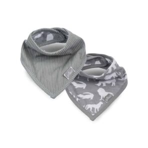 Jollein: Slab bandana Safari stone grey (2pack)