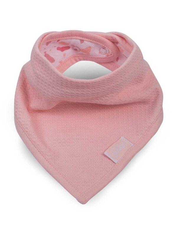 Jollein: Slab bandana Tiny waffle soft pink