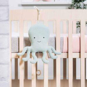 Jollein: Muziekhanger octopus Tiny waffle soft green