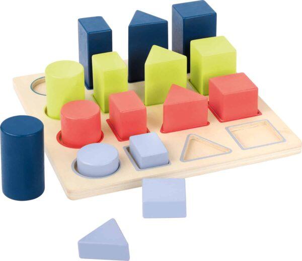 Small Foot: Houten speelgoed: Geometrische puzzel