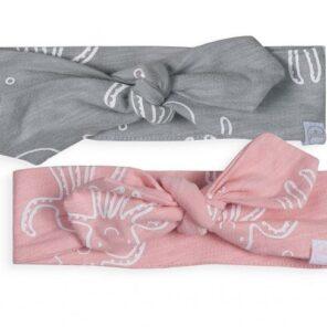 Jollein: Haarband Octopus pink&grey 2pack