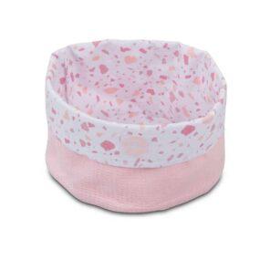 Jollein: Mandje Tiny waffle soft pink