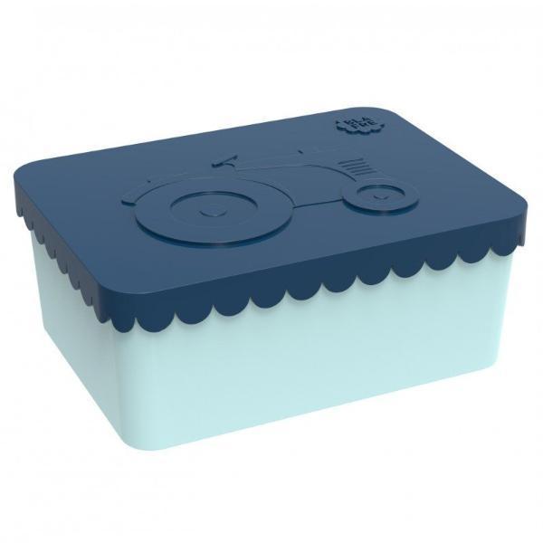 Blafre: Lunchbox Rechthoek Tractor: Dark Blue