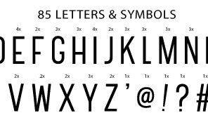 A little Lovely Company: letters: zwart
