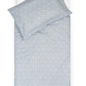 Jollein: dekbedovertrek:Graphic grijs 1.00 x1.40 cm