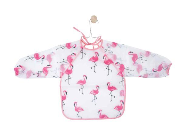 Jollein:Slab waterproof Flamingo met mouw van Jollein