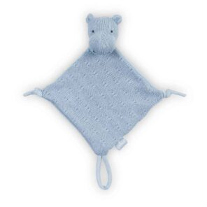 Jollein:Knuffeldoekje Soft knit: Hippo soft blue