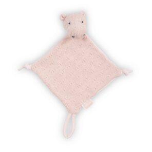 Jollein:Knuffeldoekje Soft knit: Hippo creamy peach
