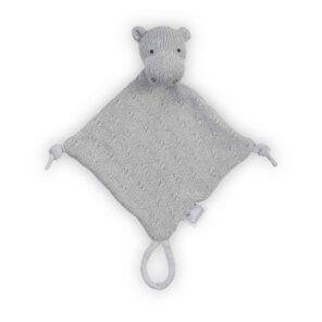 Jollein:Knuffeldoekje Soft knit: hippo light grey