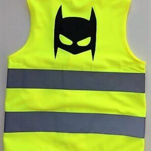 Fluo vestje Batman (2,5-5 jaar)