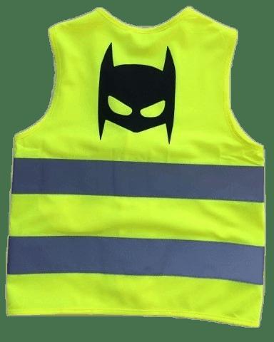 Fluo vestje Batman (6-11 jaar)