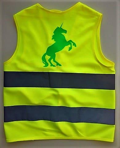 Fluo vestje Unicorn (6-11 jaar)