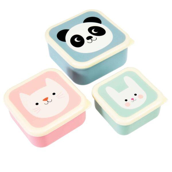 REX: Snackdoosjes Panda, cat ,rabit