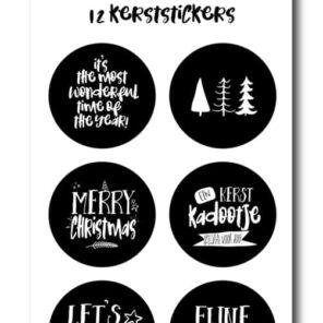 Stickervel: Kerst