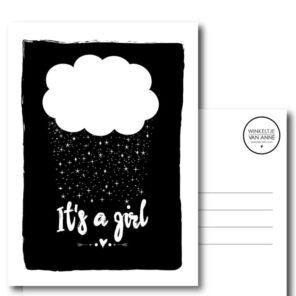 """Kaart """"it's a girl"""""""