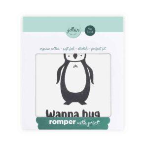 "Jollein: Cadeau romper ""Penguin"" maat 62-68"