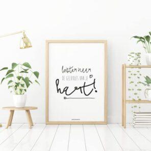Poster A4: Luister naar de geluidjes van je hart.