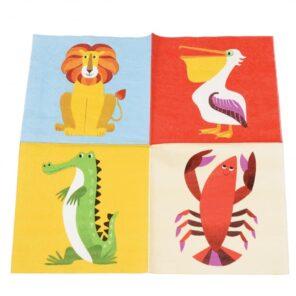 Papieren servietten colourful creatures