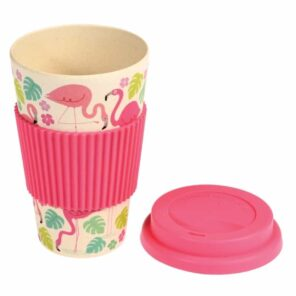 Bamboo Travel mug: Flamingobay