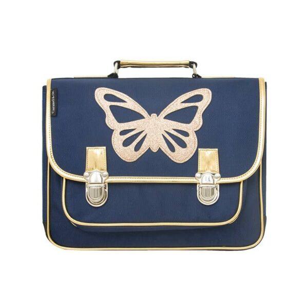 Caramel & Cie: Boekentas Vlinder blauw: Large