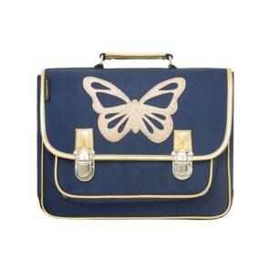 Caramel & Cie: Boekentas Vlinder blauw: Medium