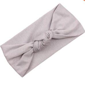 Haarband grijs knoop