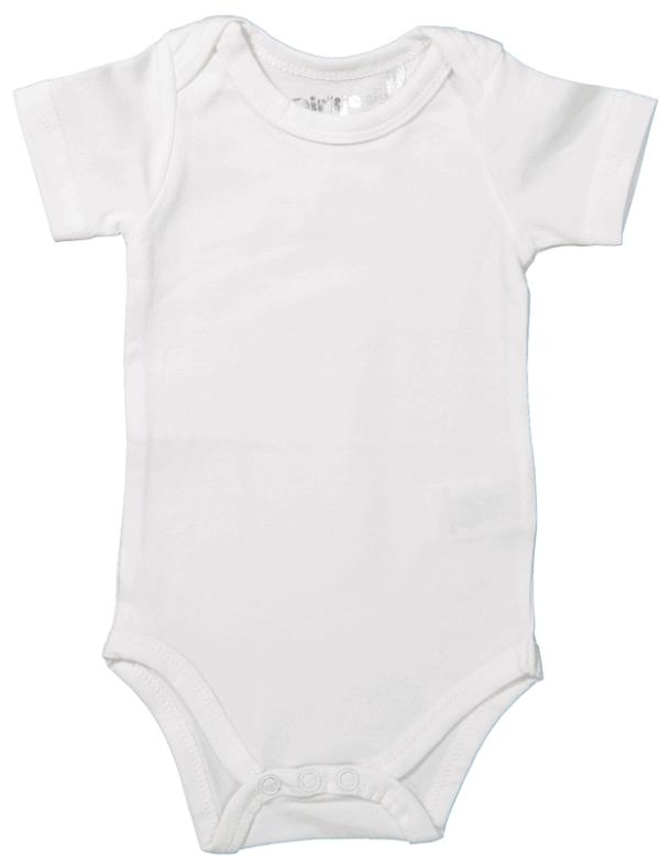 Dirkje:Baby Body short sleeves (White)