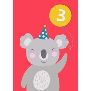 Verjaardagskaart 3 Koala