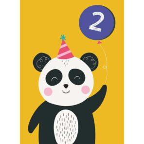 Verjaardagskaart 2 Panda
