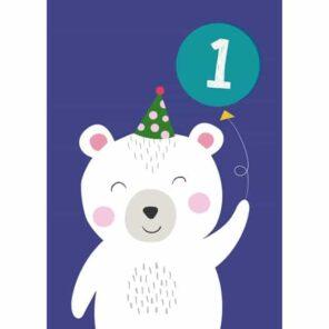 Verjaardagskaart 1 Polar Bear