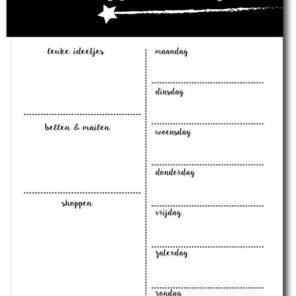 Miniplanner schrijfmomentjes