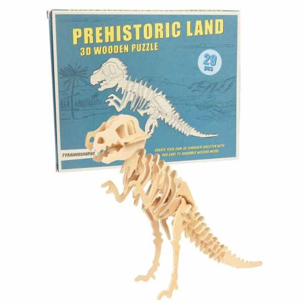 REX: Tyrannosaurus Wooden Puzzle