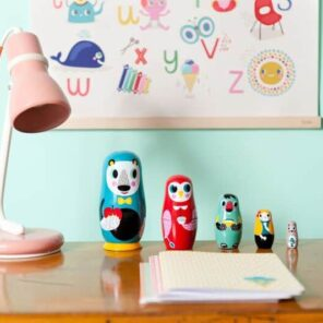 Petit Monkey: Nesting Dolls colours