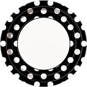 Borden zwart met witte stip 23 cm